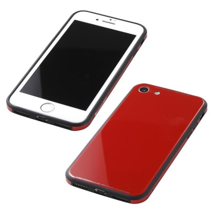 iPhone8/7 ケース Deff 強化ガラス/アルミ/TPU ハイブリッドケース UNIO レッド iPhone 8/7_0