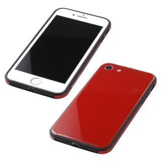 Deff 強化ガラス/アルミ/TPU ハイブリッドケース UNIO レッド iPhone 8/7【6月下旬】