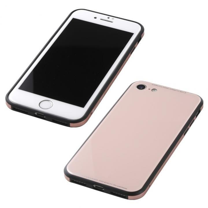 iPhone8/7 ケース Deff 強化ガラス/アルミ/TPU ハイブリッドケース UNIO ピンク iPhone 8/7_0