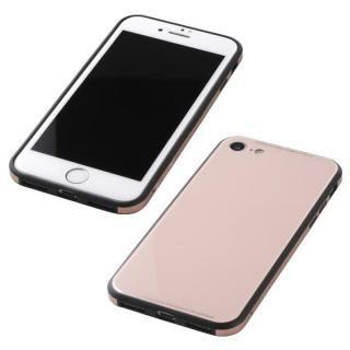 iPhone8/7 ケース Deff 強化ガラス/アルミ/TPU ハイブリッドケース UNIO ピンク iPhone 8/7