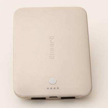 cheero Palette モバイルバッテリー 4400mAh (シャンパン)