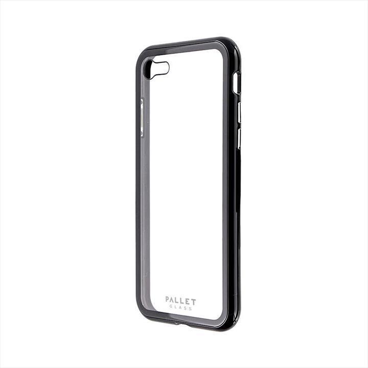 ガラスハイブリッドケース「PALLET GLASS」 クリアブラック iPhone SE 第2世代_0