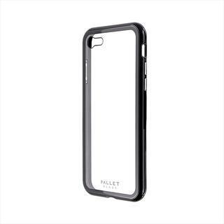 iPhone SE 第2世代 ケース ガラスハイブリッドケース「PALLET GLASS」 クリアブラック iPhone SE 第2世代