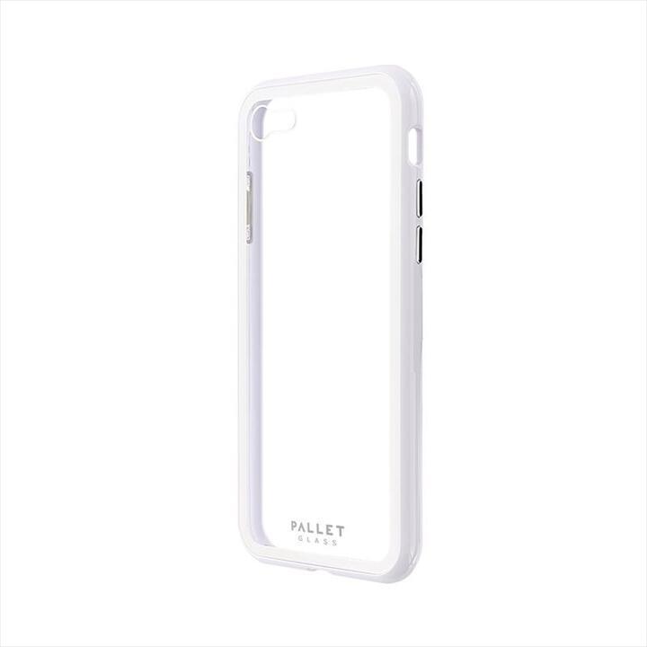 ガラスハイブリッドケース「PALLET GLASS」 クリアホワイト iPhone SE 第2世代_0