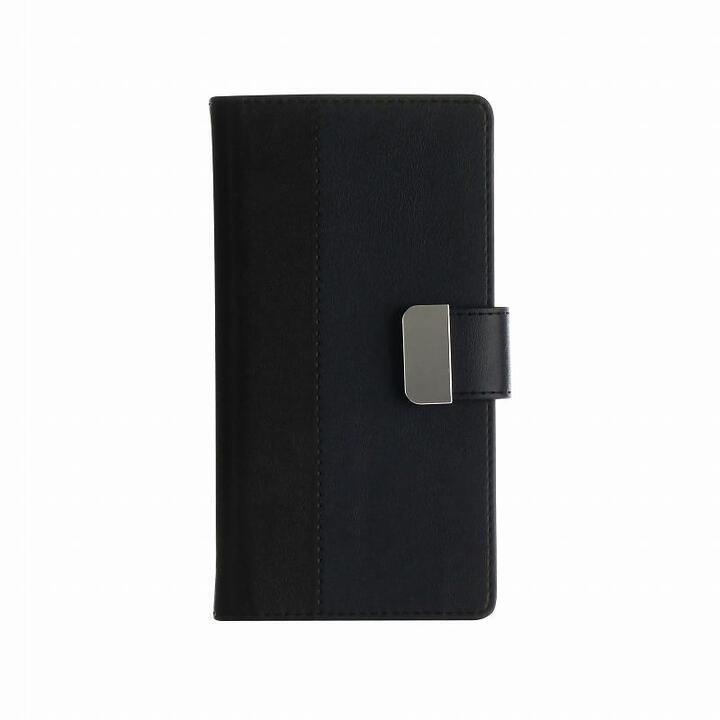 上質PUレザーブックケース「PREMIER」 ブラック iPhone SE 第2世代_0