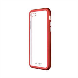 iPhone SE 第2世代 ケース ガラスハイブリッドケース「PALLET GLASS」 クリアレッド iPhone SE 第2世代