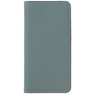 LORNA PASSONI German Shrunken Calf Folio Case for iPhone 8/iPhone 7 [Light Blue]