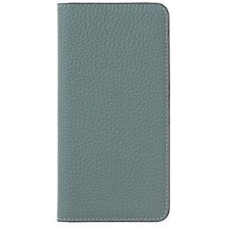 iPhone8/7 ケース LORNA PASSONI German Shrunken Calf Folio Case for iPhone 8/iPhone 7 [Light Blue]