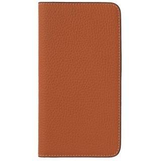 LORNA PASSONI German Shrunken Calf Folio Case for iPhone 8 Plus/iPhone 7 Plus [Orange]