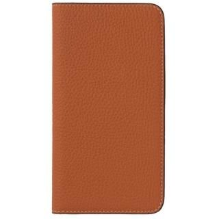 LORNA PASSONI German Shrunken Calf Folio Case for iPhone 8 Plus/iPhone 7 Plus [Orange]
