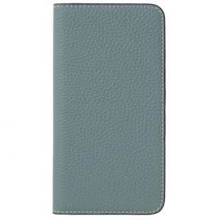 LORNA PASSONI German Shrunken Calf Folio Case for iPhone 8 Plus/iPhone 7 Plus [Light Blue]