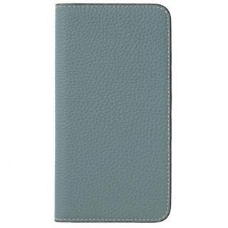 LORNA PASSONI German Shrunken Calf Folio Case for iPhone 8 Plus/iPhone 7 Plus [Light Blue]