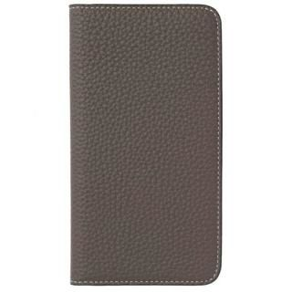 LORNA PASSONI German Shrunken Calf Folio Case for iPhone 8 Plus/iPhone 7 Plus [Taupe]