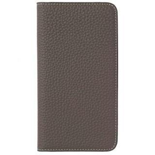 LORNA PASSONI German Shrunken Calf Folio Case for iPhone 8 Plus/iPhone 7 Plus [Taupe]