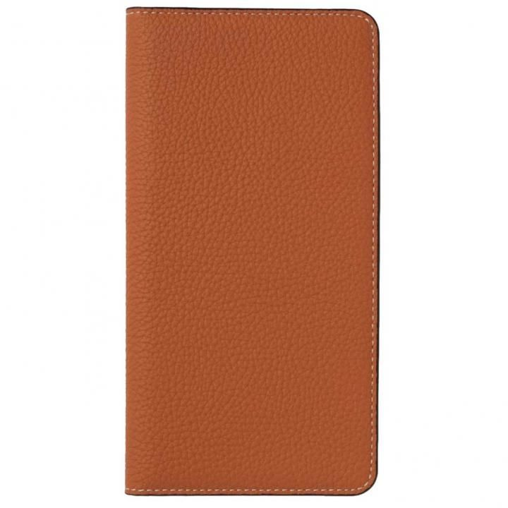 iPhone X ケース LORNA PASSONI German Shrunken Calf Folio Case for iPhone X [Orange]_0