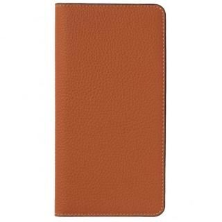 LORNA PASSONI German Shrunken Calf Folio Case for iPhone X [Orange]
