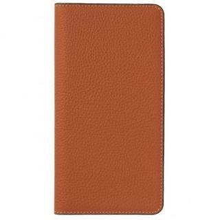 LORNA PASSONI German Shrunken Calf Folio Case for iPhone X [Orange]