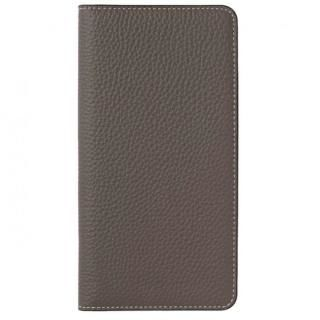 LORNA PASSONI German Shrunken Calf Folio Case for iPhone X [Taupe]