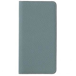 LORNA PASSONI German Shrunken Calf Folio Case for iPhone X [Light Blue]