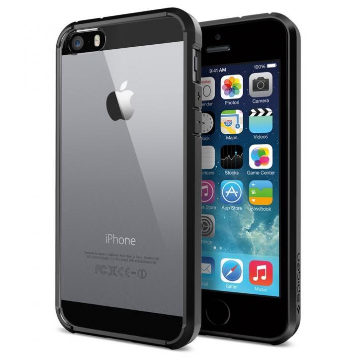 Spigen ウルトラ・ハイブリッド ケース ブラック iPhone SE/5s/5