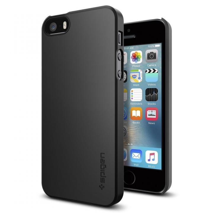 Spigen シン・フィット 薄型ケース ブラック iPhone SE/5s/5
