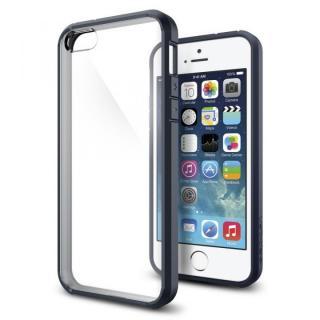 Spigen ウルトラ・ハイブリッド ケース メタルスレート iPhone SE/5s/5