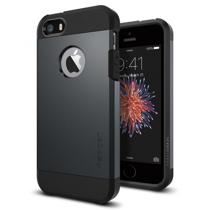 Spigen タフ・アーマー 耐衝撃ケース メタルスレート iPhone SE/5s/5