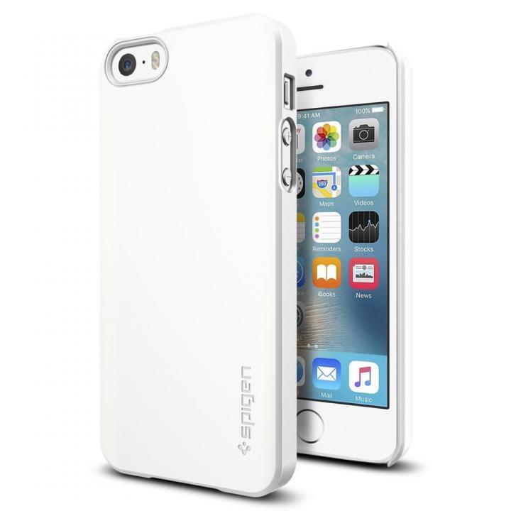 iPhone SE/5s/5 ケース Spigen シン・フィット 薄型ケース ホワイト iPhone SE/5s/5_0