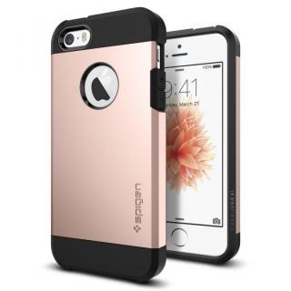 【iPhone SE ケース】Spigen タフ・アーマー 耐衝撃ケース ローズゴールド iPhone SE/5s/5