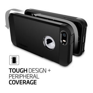 【iPhone SE/5s/5ケース】Spigen タフ・アーマー 耐衝撃ケース ブラック iPhone SE/5s/5_1