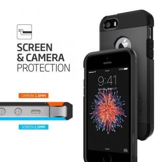 【iPhone SE/5s/5ケース】Spigen タフ・アーマー 耐衝撃ケース ブラック iPhone SE/5s/5_5