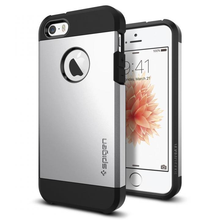 iPhone SE/5s/5 ケース Spigen タフ・アーマー 耐衝撃ケース サテンシルバー iPhone SE/5s/5_0