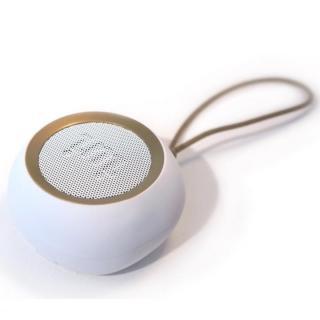 ウーファー搭載ポータブルスピーカー BeYo(ビーヨ) ホワイト×ゴールド