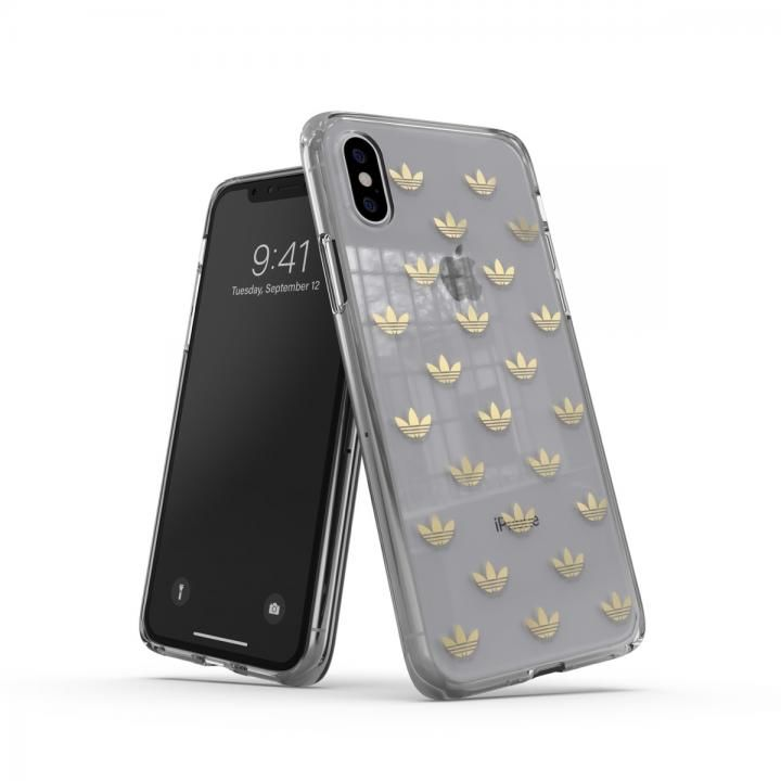 iPhone XS/X ケース adidas OR-Clear Case SS19 Gold iPhone XS/X_0