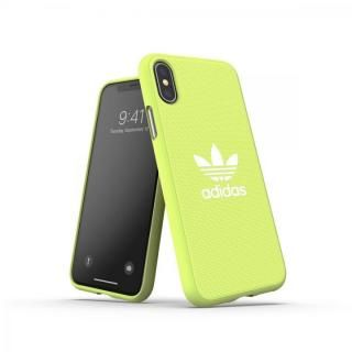 iPhone XS/X ケース adidas OR-Moulded Case CANVAS SS19 Yellow iPhone XS/X