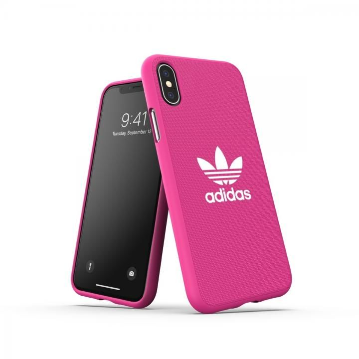 iPhone XS/X ケース adidas OR-Moulded Case CANVAS SS19 Shock Pink iPhone XS/X_0