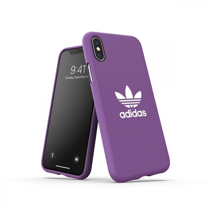 iPhone XS/X ケース adidas OR-Moulded Case CANVAS SS19 Purple iPhone XS/X_0