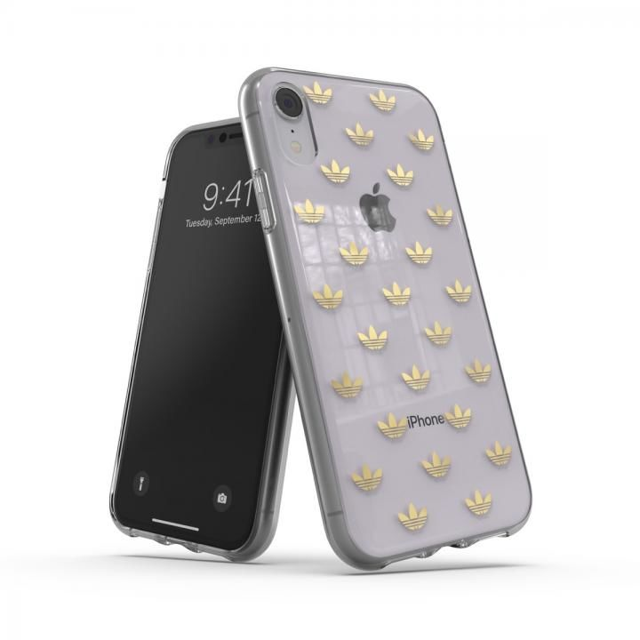 iPhone XR ケース adidas OR-Clear Case SS19 Gold iPhone XR_0