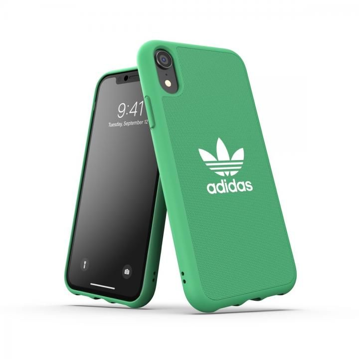 iPhone XR ケース adidas OR-Moulded Case CANVAS SS19 Green iPhone XR_0