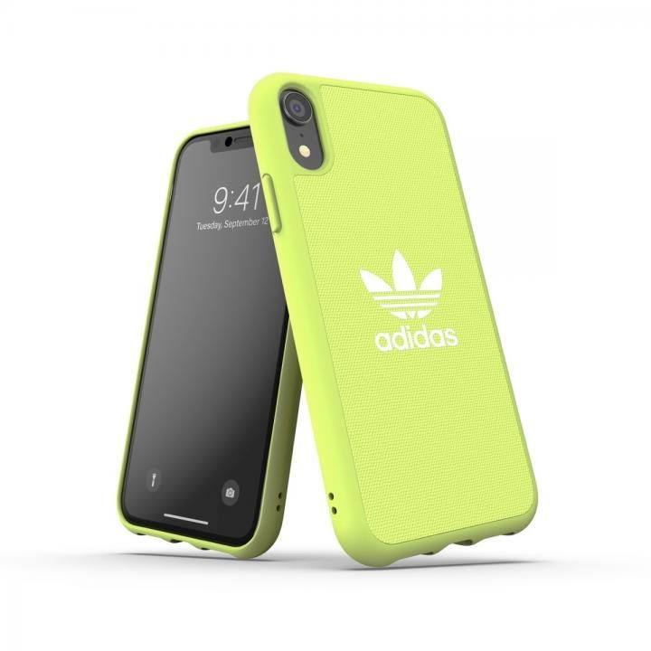 iPhone XR ケース adidas OR-Moulded Case CANVAS SS19 Yellow iPhone XR_0