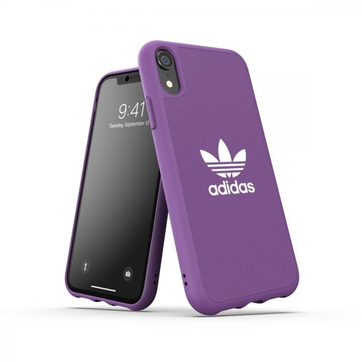 iPhone XR ケース adidas OR-Moulded Case CANVAS SS19 Purple iPhone XR_0