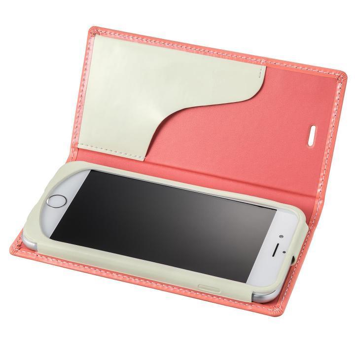 【iPhone6s/6ケース】GRAMAS FEMME Ena エナメル調レザー手帳型ケース ピンク iPhone 6s/6_0