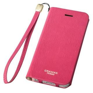 GRAMAS FEMME Colo 手帳型レザーケース ピンク iPhone SE/5s/5