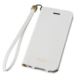 GRAMAS FEMME Colo 手帳型レザーケース ホワイト iPhone SE/5s/5