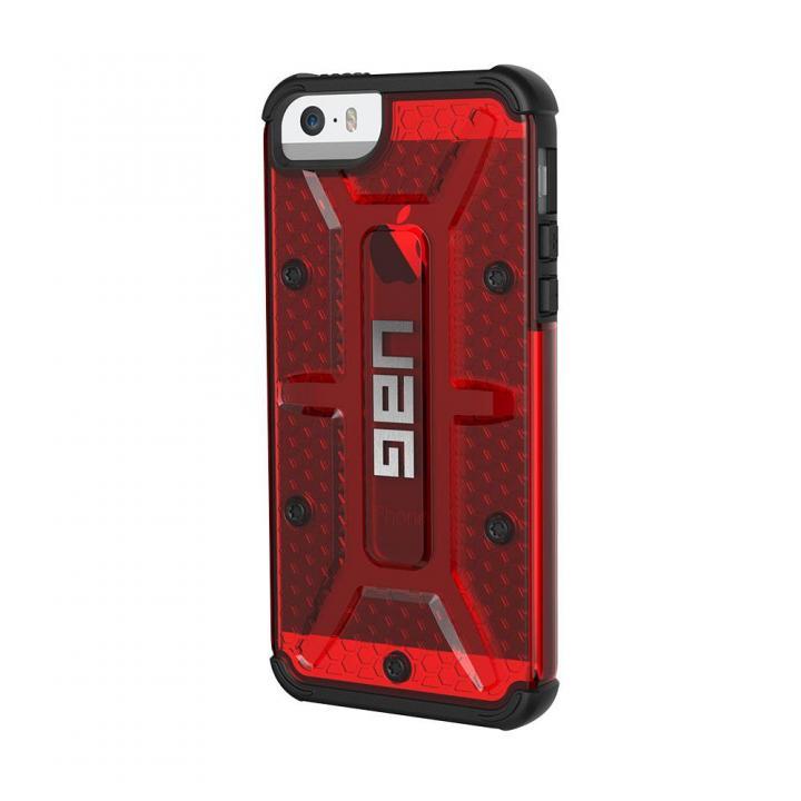 iPhone SE/5s/5 ケース UAG 耐衝撃コンポジットケース クリアレッド iPhone SE/5s/5_0