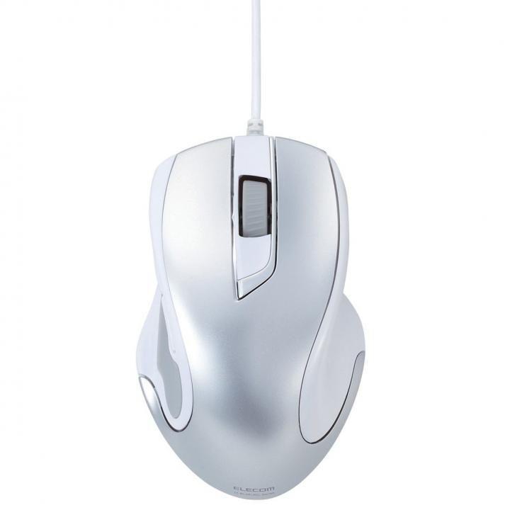 Type-C対応 USB BlueLED マウス シルバー_0