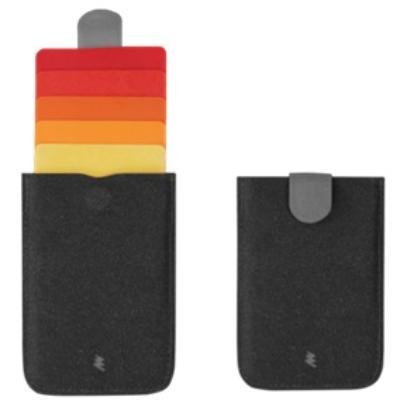 DAX プルタブ式カードケース レッド