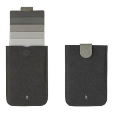 DAX プルタブ式カードケース グレー