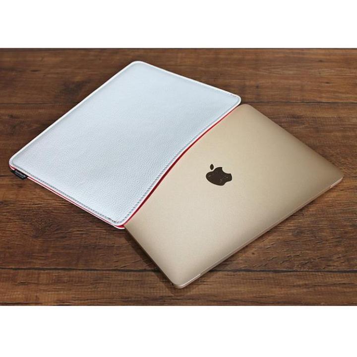 職人が作るシュリンクレザースリーブ for MacBook  12インチRetina ホワイト_0