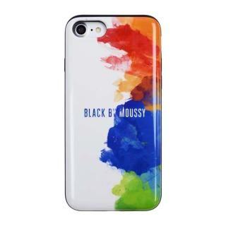 BLACK BY MOUSSY カード収納型背面ケース スプレーホワイト iPhone 8/7